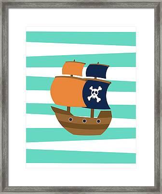 Pirate Boat II Framed Print by Tamara Robinson