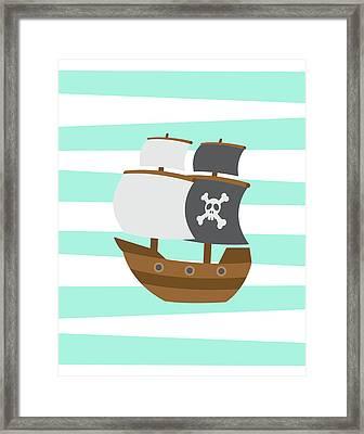 Pirate Boat Framed Print