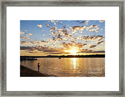 Pirate Fishing Framed Print by Nicole Doyle
