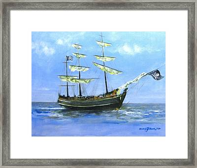 Pirate Framed Print by Howard Stroman