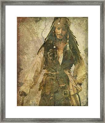 Pirate Johnny Depp - Steampunk Framed Print
