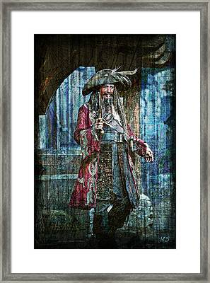 Pirate Keith Richards Framed Print by Absinthe Art By Michelle LeAnn Scott
