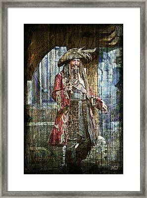 Pirate Keith Richards - Steampunk Framed Print by Absinthe Art By Michelle LeAnn Scott