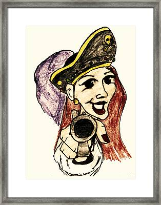 Pirate Lass Framed Print