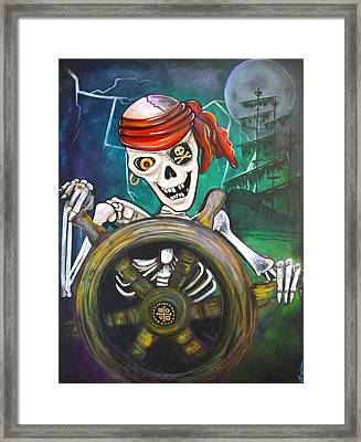 Pirate Moon Framed Print by Laura Barbosa