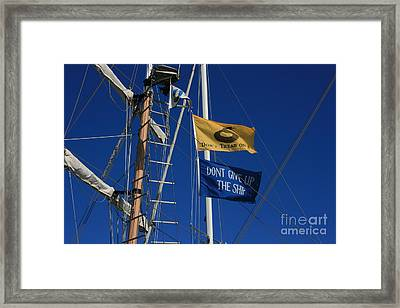 Pirate Rigging Framed Print by Marty Fancy