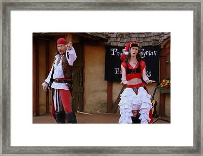 Pirate Shantyman And Bonnie Lass Framed Print by Rodney Lee Williams