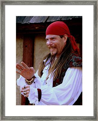Pirate Shantyman Framed Print by Rodney Lee Williams