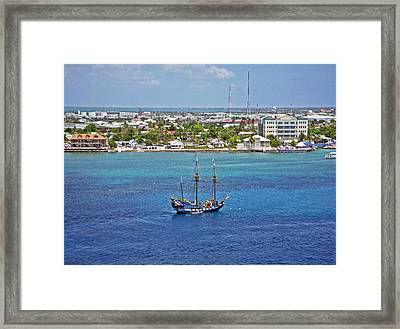 Pirate Ship In Cozumel Framed Print by Aimee L Maher Photography and Art Visit ALMGallerydotcom