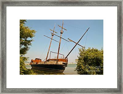 Framed Print featuring the photograph Pirate Ship Or Sailing Ship by Sue Smith