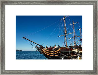 Pirate Ship Framed Print by Pati Photography