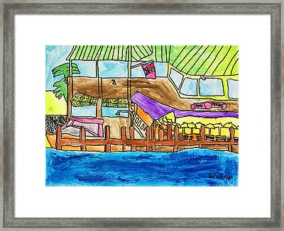 Framed Print featuring the painting Piraterepublic by Artists With Autism Inc