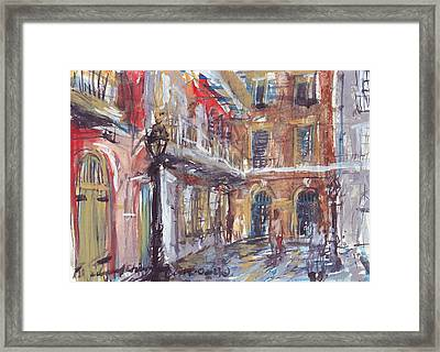 Pirate's Alley Framed Print by Edward Ching