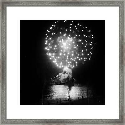 Pirates And Fireworks Framed Print by Natasha Marco