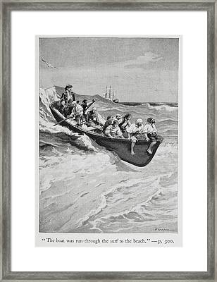 Pirates And Their Captain In A Boat Framed Print by British Library