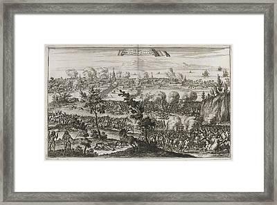 Pirates Attacking Panama Framed Print by British Library