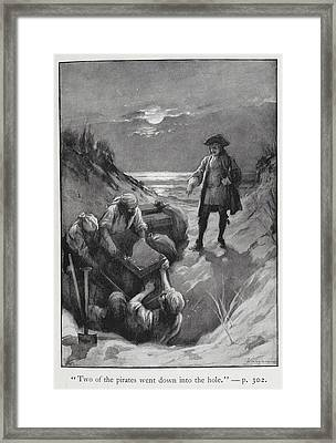 Pirates Burying Treasure Framed Print by British Library