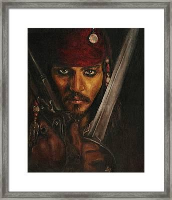 Pirates- Captain Jack Sparrow Framed Print