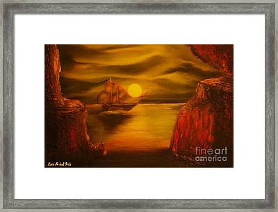 Pirates Cave- Original Sold - Buy Giclee Print Nr 27 Of Limited Edition Of 40 Prints  Framed Print