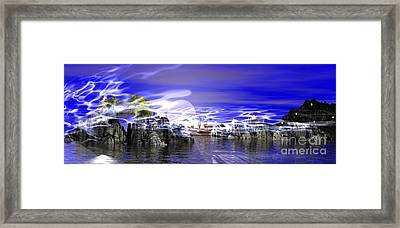 Pirates Cove Framed Print by Jacqueline Lloyd