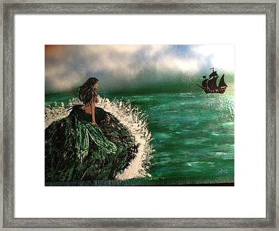 Framed Print featuring the painting Pirates Cove by Michael Rucker