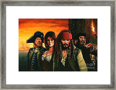 Pirates Of The Caribbean  Framed Print by Paul Meijering