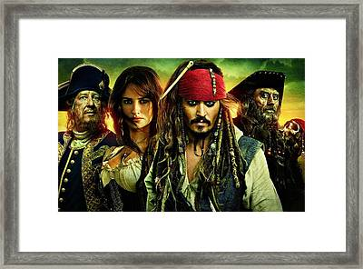 Pirates Of The Caribbean Stranger Tides Framed Print by Movie Poster Prints
