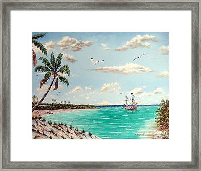 Pirates On Pavilion Key Framed Print by Riley Geddings