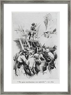 Pirates Waiting To Board A Ship Framed Print by British Library