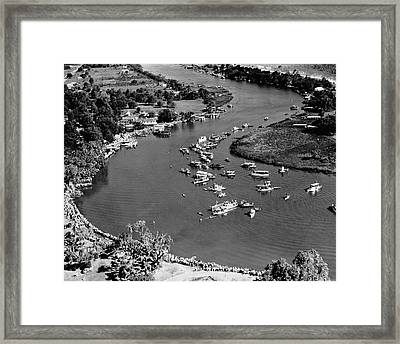 Pirogue Paddling Contest Framed Print