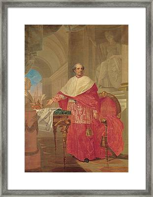 Pirovani Giuseppe, Portrait Of Cardinal Framed Print by Everett