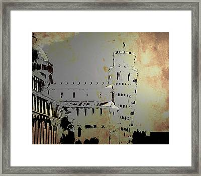 Framed Print featuring the digital art Pisa Italy 1 by Brian Reaves