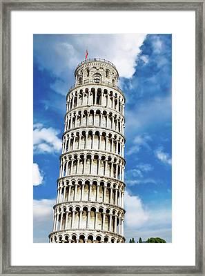 Pisa, Italy, Tuscany, Piazza Dei Framed Print