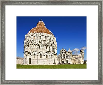Framed Print featuring the photograph Pisa - Piazza Dei Miracoli by Kim Andelkovic