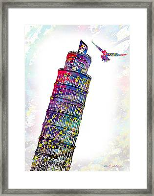 Pisa Tower  Framed Print by Mark Ashkenazi