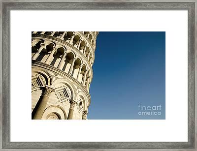 Pisa Tower Framed Print by Mats Silvan