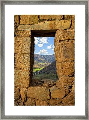 Pisac Ruins Framed Print by Alexey Stiop