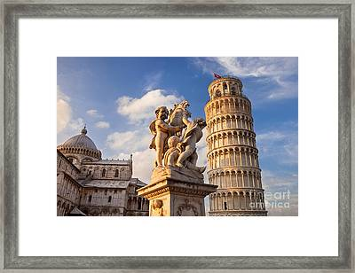 Pisa's Leaning Tower Framed Print by Brian Jannsen