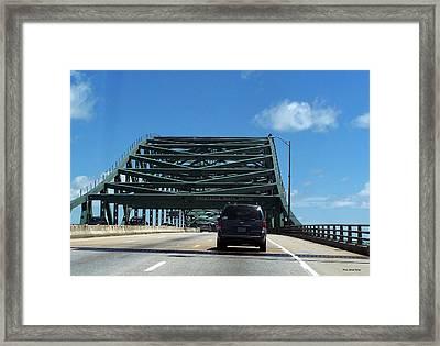 Piscataqua River Bridge Framed Print by Suhas Tavkar