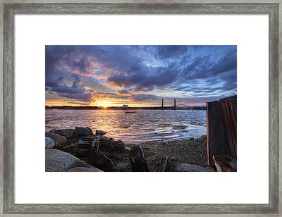 Piscataqua Sunset Framed Print by Eric Gendron