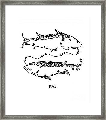 Pisces Constellation Zodiac Sign 1482 Framed Print