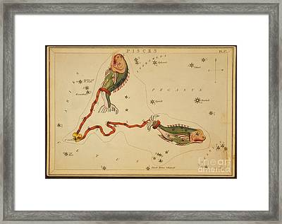 Pisces Constellation Zodiac Sign 1825 Framed Print