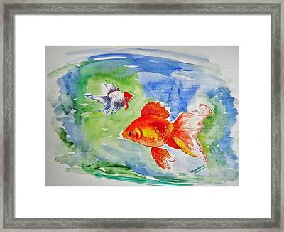 Pisces Framed Print by Shakhenabat Kasana
