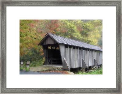 Pisgah Covered Bridge Framed Print by Karol Livote