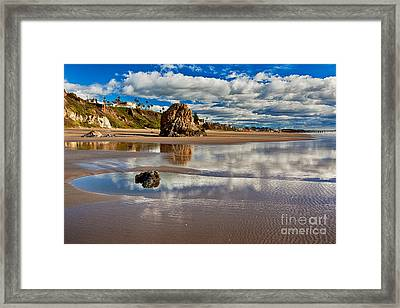 Pismo Beach At Low Tide Framed Print