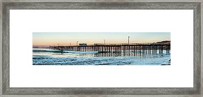 Pismo Beach Pier At Sunrise, San Luis Framed Print