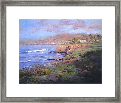 Pismo Beach Sunrise Framed Print by R W Goetting