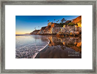 Pismo Cliffs And Reflections Framed Print