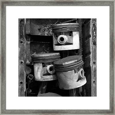 Pisotons In A Pan Framed Print