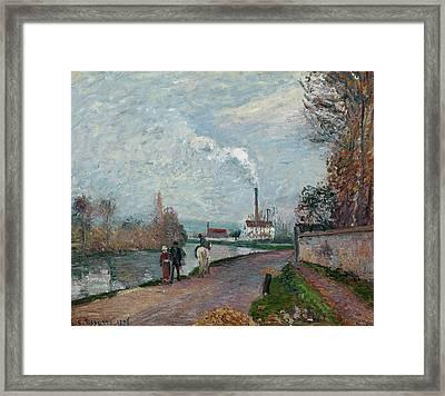 Pissarro The Oise, 1876 Framed Print